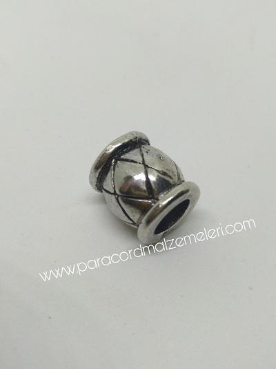 Paracord Aksesuar Baklava Boncuk Gümüş Renk